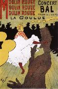 La Goulue,Dance at the Moulin Rouge Henri de toulouse-lautrec